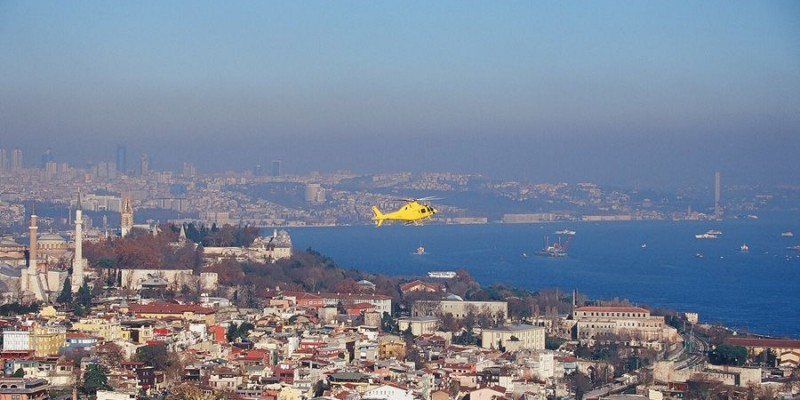 helicopter in istanbul